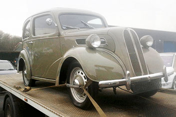 Classic car delivery and transportation with Paul Gordon Transport
